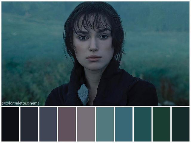 Paleta de cores de adaptações literárias