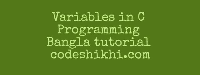 Variables in C programming Bangla