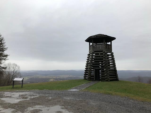 tower overlooking valley