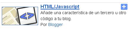 Widget para blogger