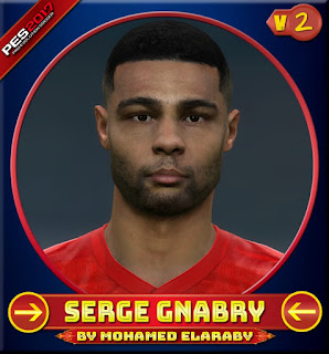 PES 2017 Faces Serge Gnabry V2 by M.Elaraby
