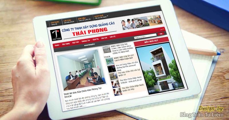 Thiết kế Website công ty xây dựng Thái Phong