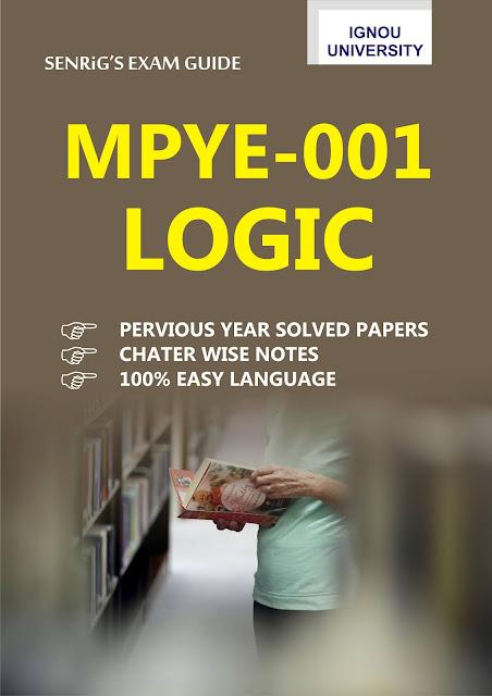 IGNOU MPYE 001 Logic Help Book