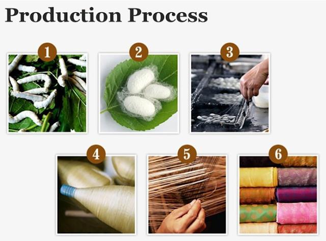Proses Pembuatan Kain Sutera