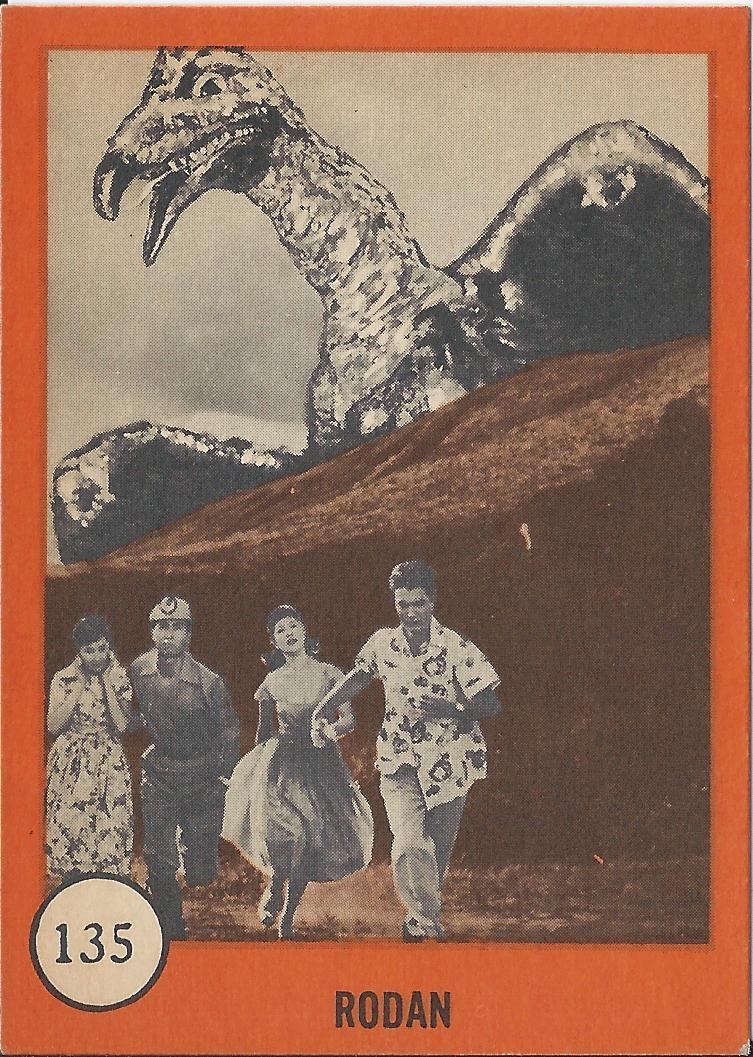 The Sphinx Nu Card Quot Horror Monster Series Quot 135 Rodan