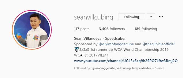 seanvillcubing instagram