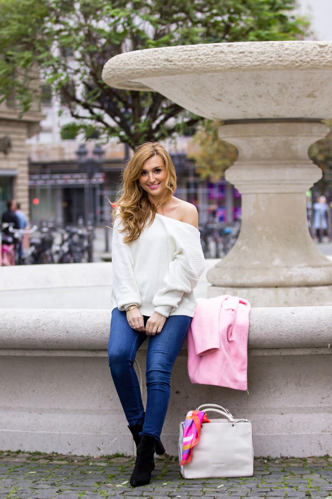 bijou-brigitte-ohrringe-hängeohrringe-ledertasche-weiße-ledertasche-rosa-Mantel-fashionstylebyjohanna