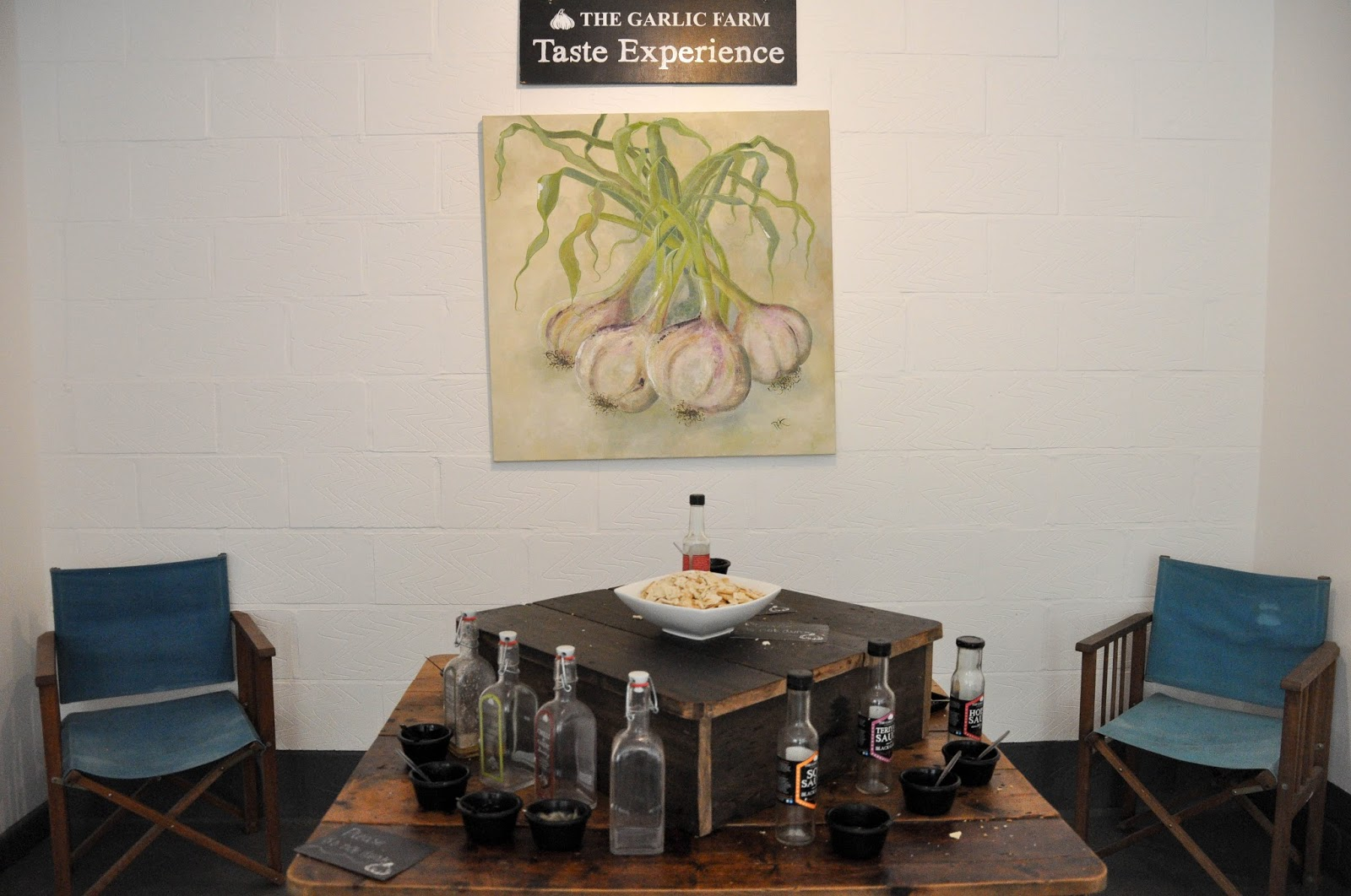 Taste Experience, The Garlic Farm, Isle of Wight, UK