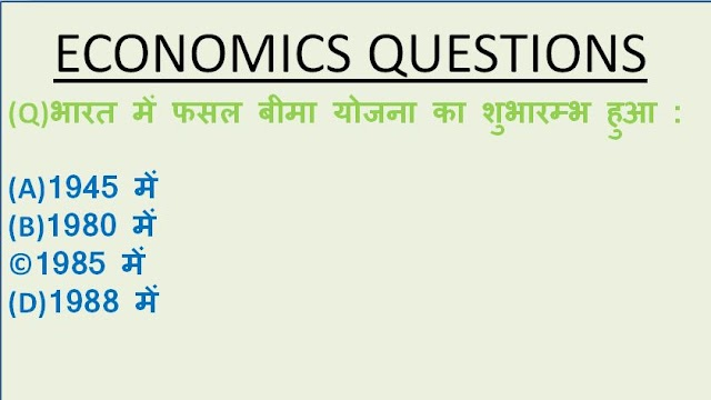 Economic Question In Hindi