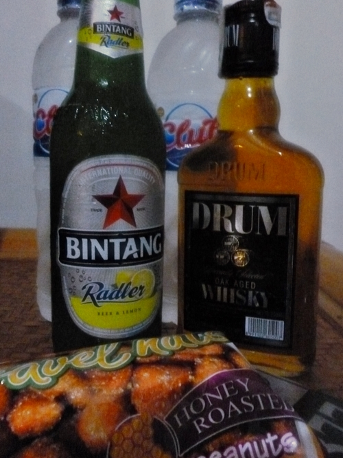 Balinese alcohol☆Bintang Radler and  Drum Whisky