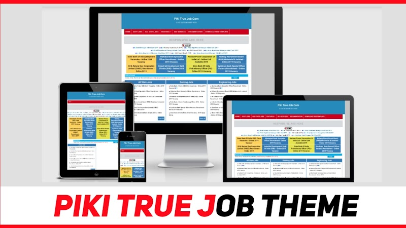 Piki True Job | Perfect Job Template For Blogger - Responsive Blogger Template