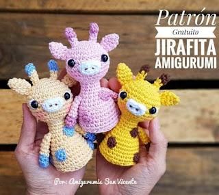 PATRON GRATIS JIRAFA AMIGURUMI 44345