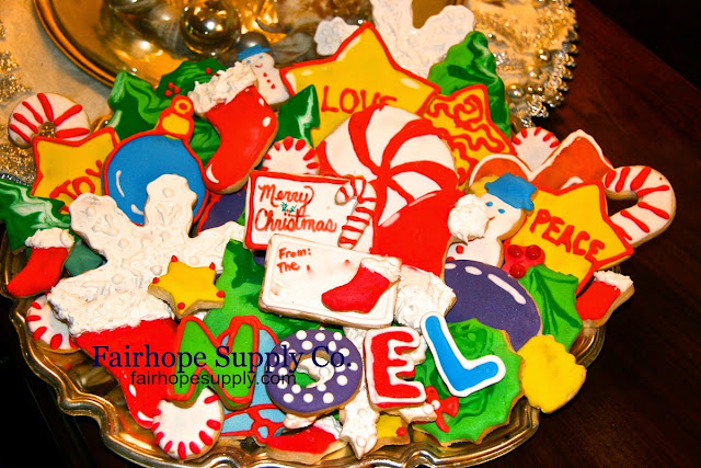Christmas Cookies Decorated Cookies Cut Out Cookies