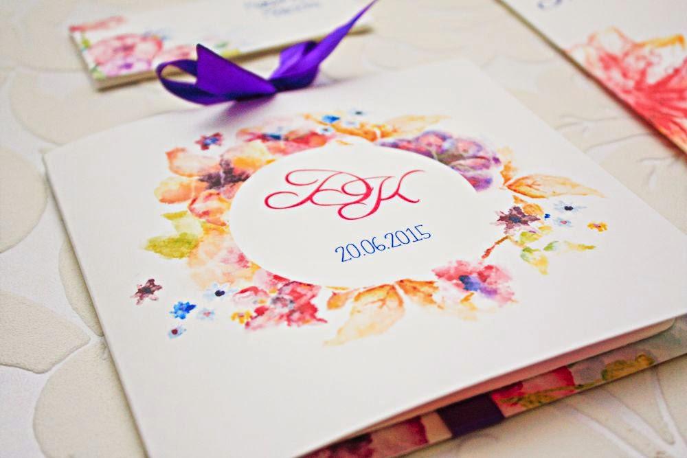 Kolorowe zaproszenia ślubne Artirea