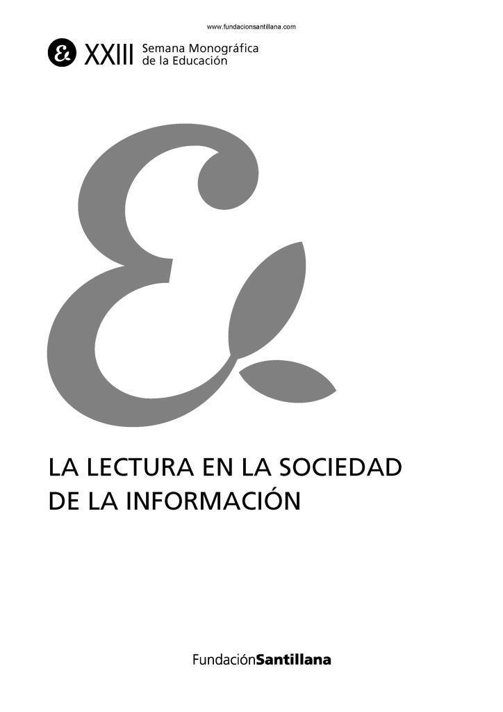 La lectura en la sociedad de la información