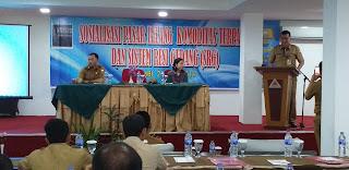 Kadis Perindag Provinsi Jambi Membuka Sosialisasi Pasar Lelang Komoditas Terpadu Dan Sistem Resi Gudang (SRG).