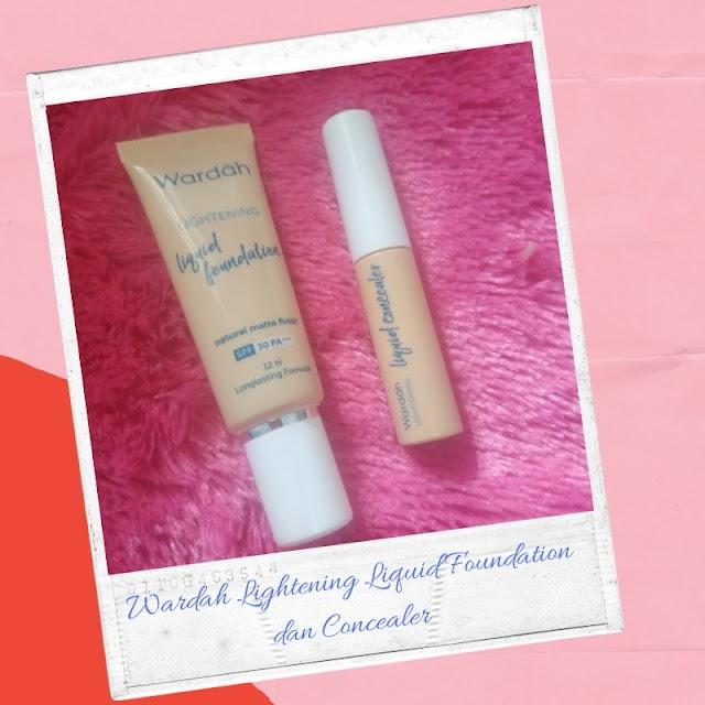 Review Wardah Lightening Liquid Foundation dan Concealer