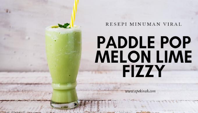 Resipi Minuman Viral Paddle Pop Melon Lime Fizzy