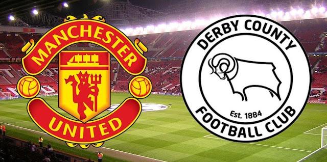 موعد مباراة مانشيستر يونايتد القادمة ضد ديربي كاونتي والقنوات الناقلة في ختام مباريات دور ال 16 من كأس الإتحاد الإنجليزي