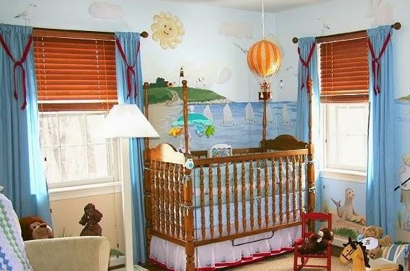 dormitorio de bebé lleno de color