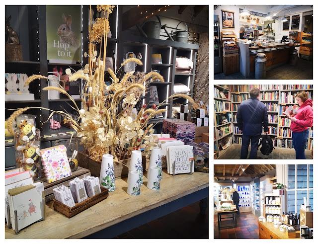 Shops and cafe at Sissinghurst Castle Garden