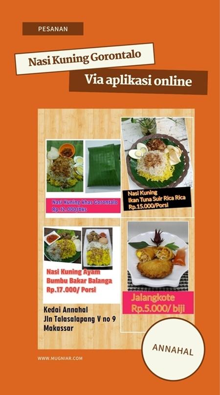 Nasi Kuning Gorontalo di Makassar