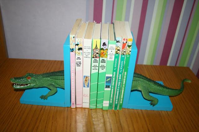 serre-livre, crocodile, DIY, Bonnie Parker Créations, La Perle des Loisirs