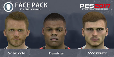 PES 2017 Facepack Dumfries & Schürrle & Werner by Bebo