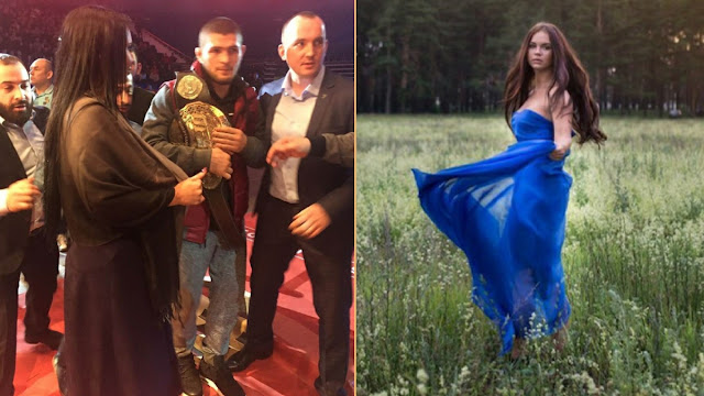 Kisah Gadis Ring MMA Tutup Aurat saat Bertemu Khabib Nurmagomedov