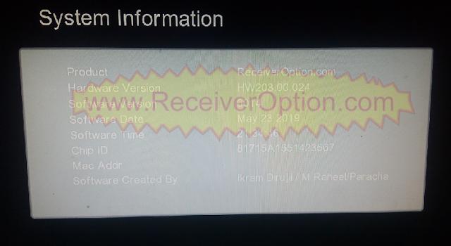 GX6605S HW203.00.024 TYPE HD RECEIVER TEN SPORTS OK NEW SOFTWARE