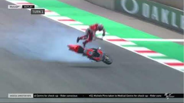 Τρομακτικό ατύχημα  με 350 χλμ/ώρα. στο MotoGP [ΒΙΝΤΕΟ]