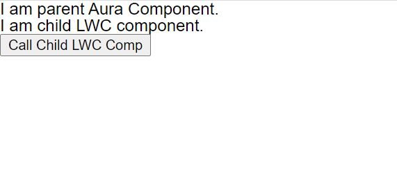 How to call lwc method from Aura component