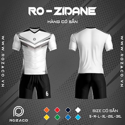 Áo Không Logo Rozaco RO-ZIDANE Màu Trắng