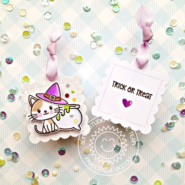 Sunny Studio Stamps: Bewitching Scalloped Tag Dies Halloween Tag by Franci Vignoli