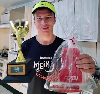 Atleta Manoel Ribas é campeão da 1° Corrida Virtual da UCP Pitanga