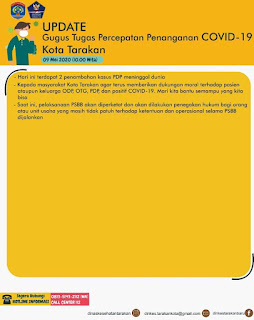Press Release COVID-19 Tarakan 9 Mei 2020 - Tarakan Info