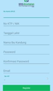 formulir isian buat akun mobile jkn