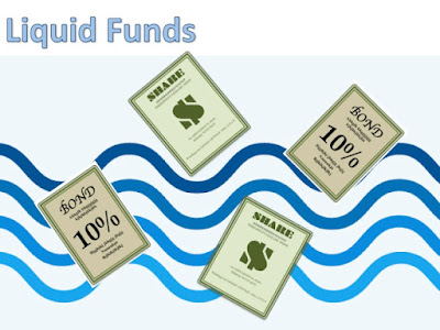 share and bond investments floating in water current