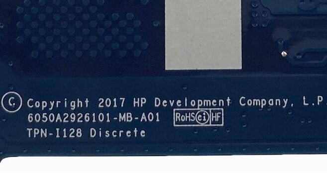 6050A2926101-MB-A01 TPN-I128 HP Envy 13-AD103TX Bios