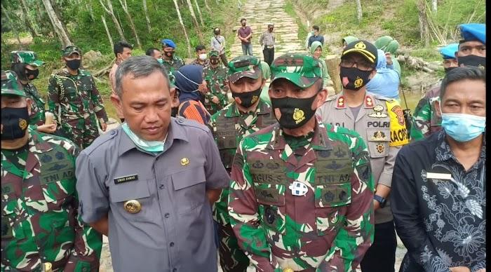 Pangdam II Sriwijaya Lakukan kunjungan Kerja ke Tulang Bawang Barat.