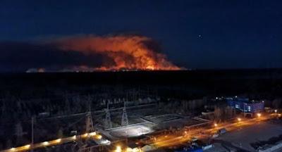 Север и центр Украины охвачены пожарами