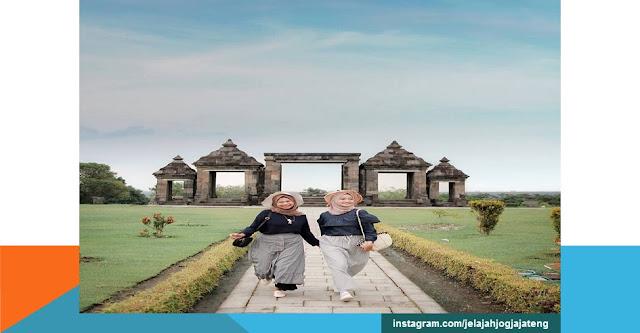 objek wisata candi ratu boko Yogyakarta