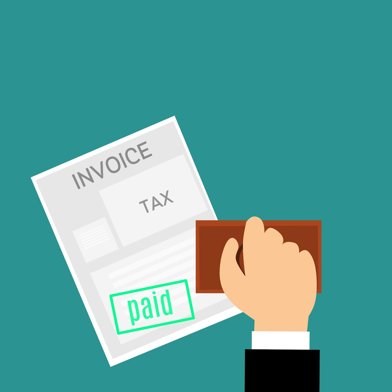 Download free illustrations of tax, invoice, paid - download free ...