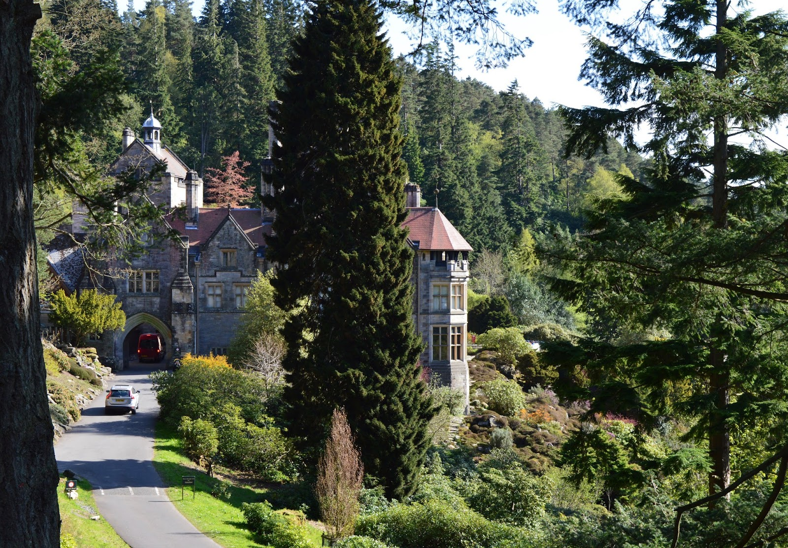 The Labyrinth at Cragside - view of the house