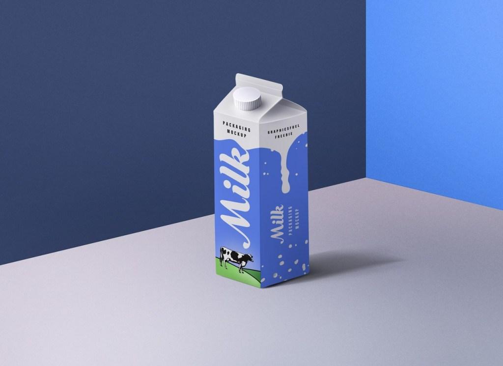 Milk Packaging PSD Mockup