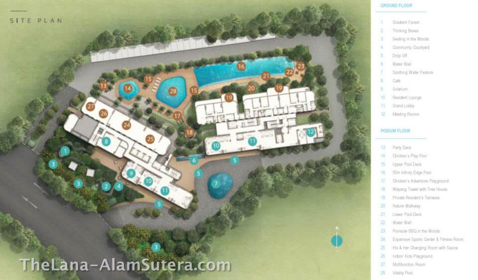 Ground Floor Apartemen The Lana Alam Sutera