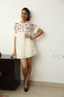 Lavanya Tripathi in Summer Style Spicy Short White Dress at her Interview  Exclusive 146.JPG