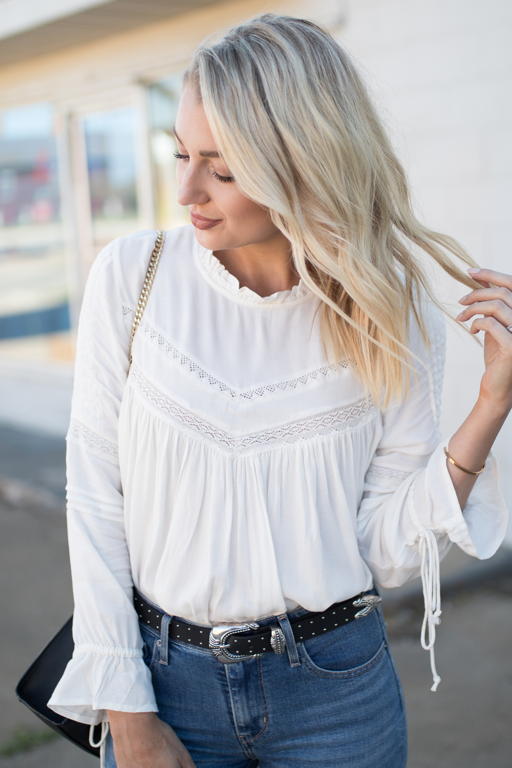 Mango white top