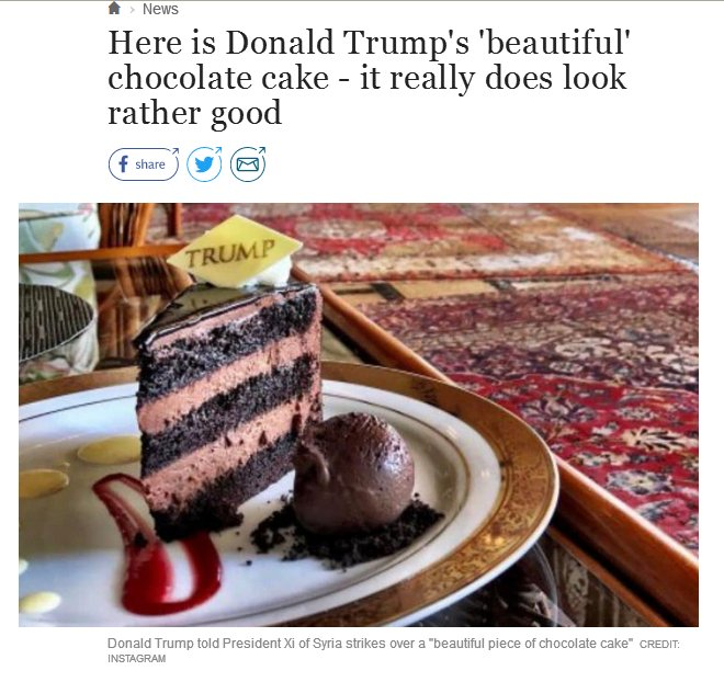 Trump Most Beautiful Chocolate Cake Cnn
