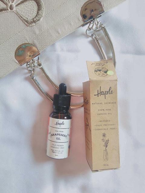 Review haple.id Grapeseed Oil Review Face Oil di Kulit Berminyak dan Berjerawat